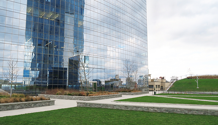 Pictured: Cira Green, facing the FMC Tower